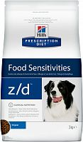 Hill's Prescription Diet z/d Food Sensitivities сухой корм для собак 3 кг